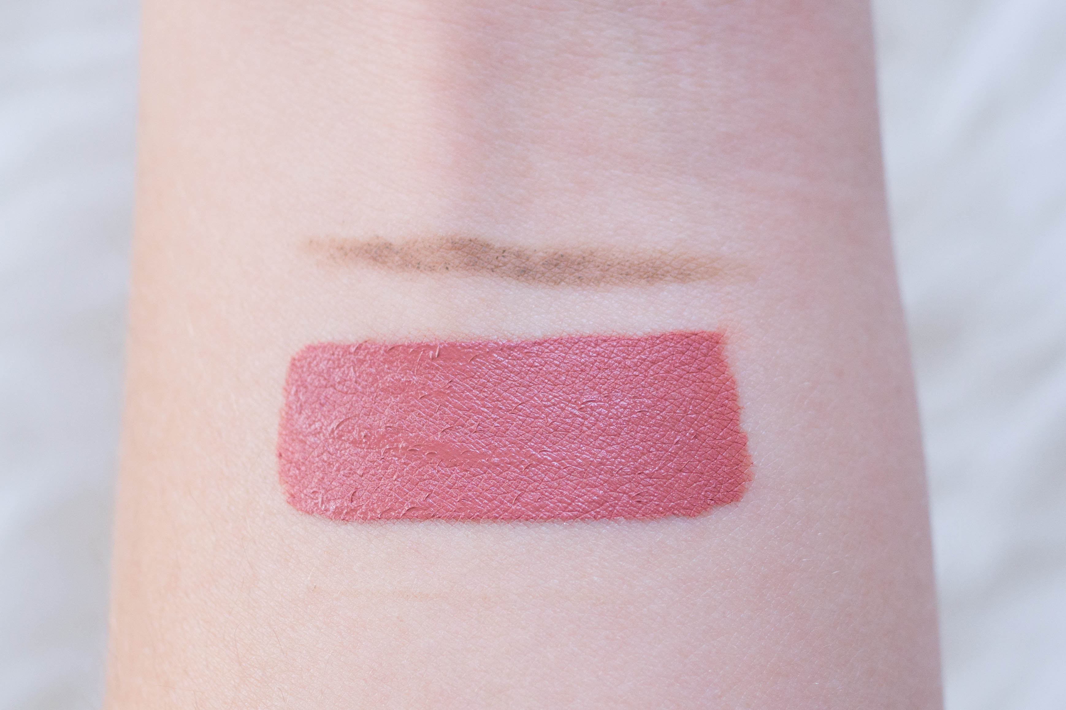 soap and glory brow wiz colour pop ultra satin lip echo park swatch