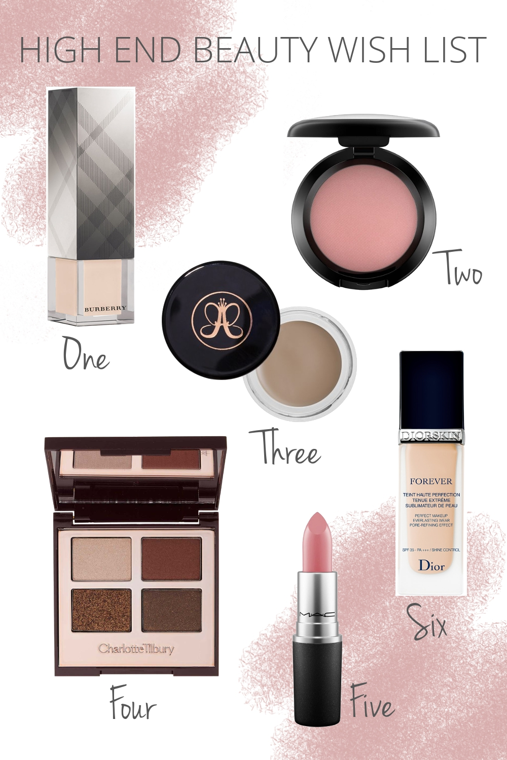 primetime chaos beauty wish list highend makeup