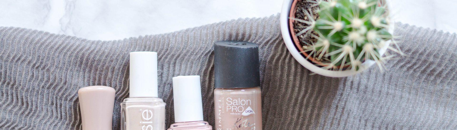 nude nail polish nailvarnish essie essence rimmel flatlay