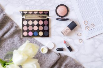 best products monthly favourites flatlay beauty makeup primetime chaos