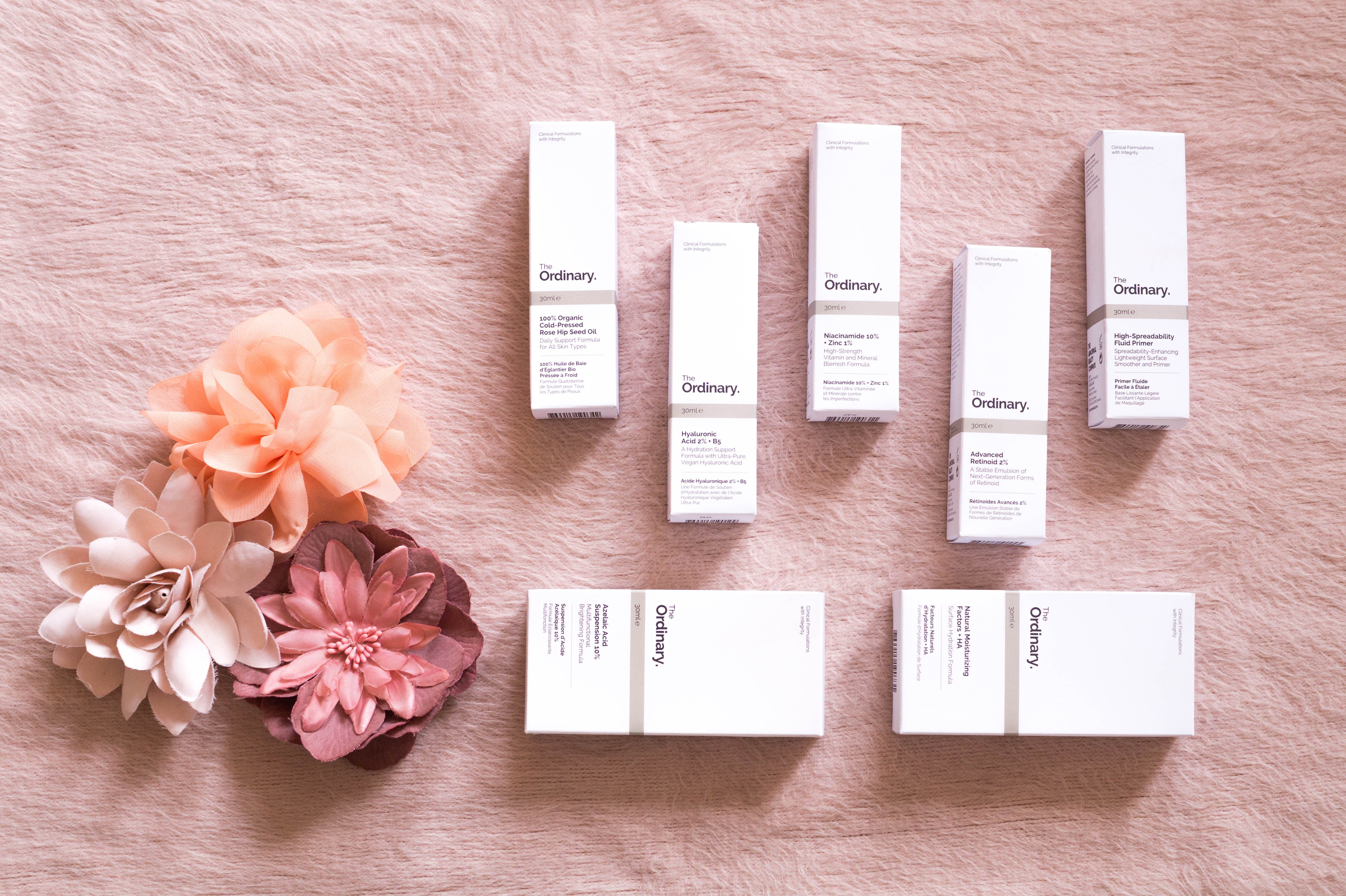 glamour shopping week flatlay primetime chaos haul the ordinary skincare