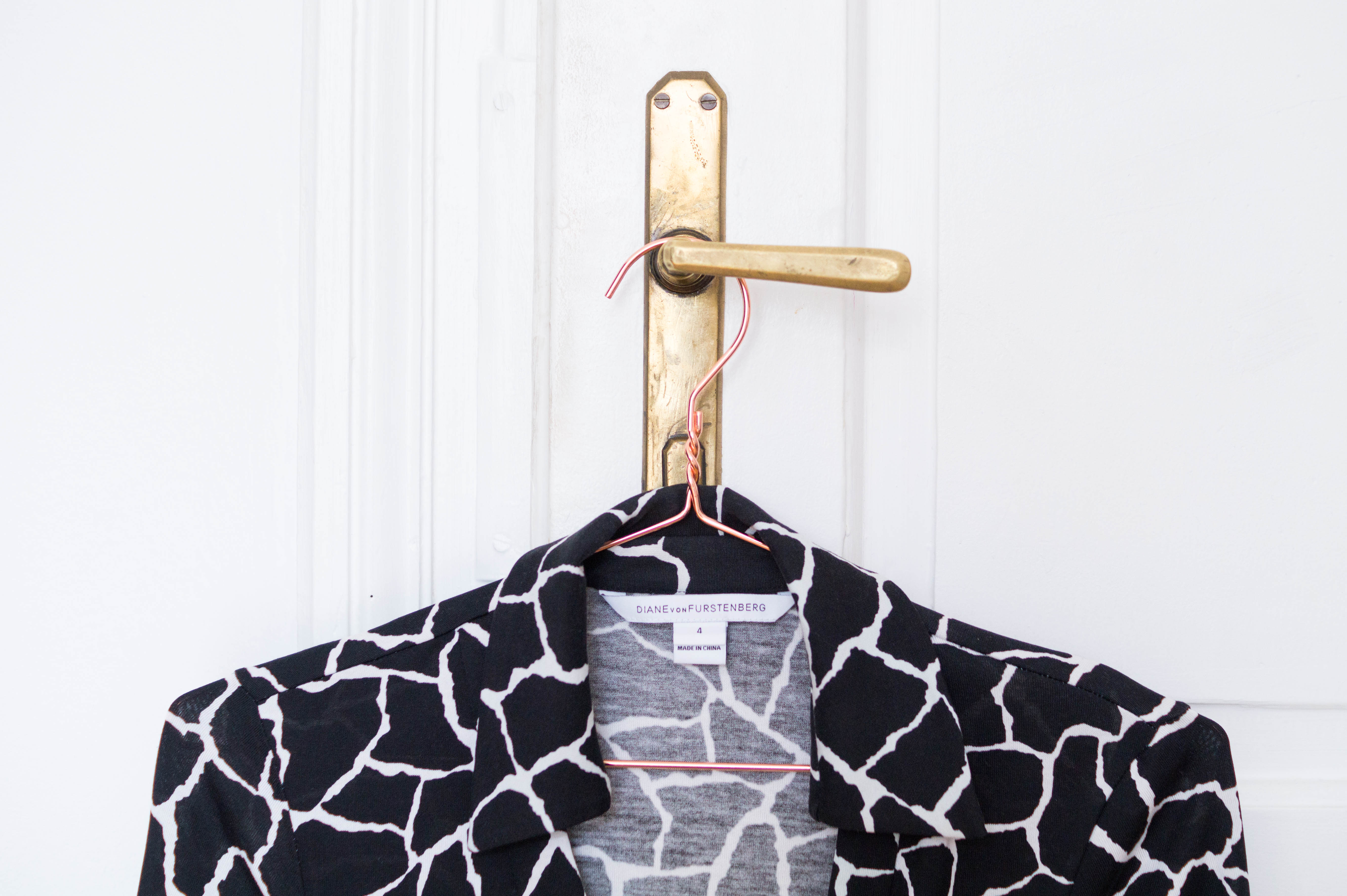 declutter closet wardrobe diane von furstenberg dvf dress wrap dress