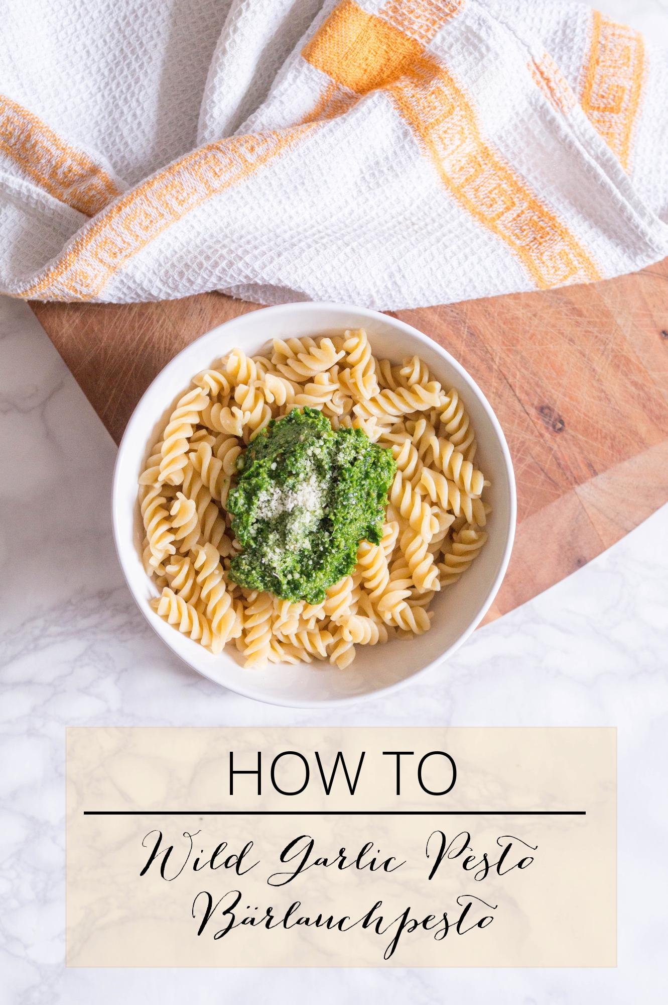 wild garlic pesto bärlauchpesto primetimechaos flatlay vegetarian food pasta ramson bärlauch