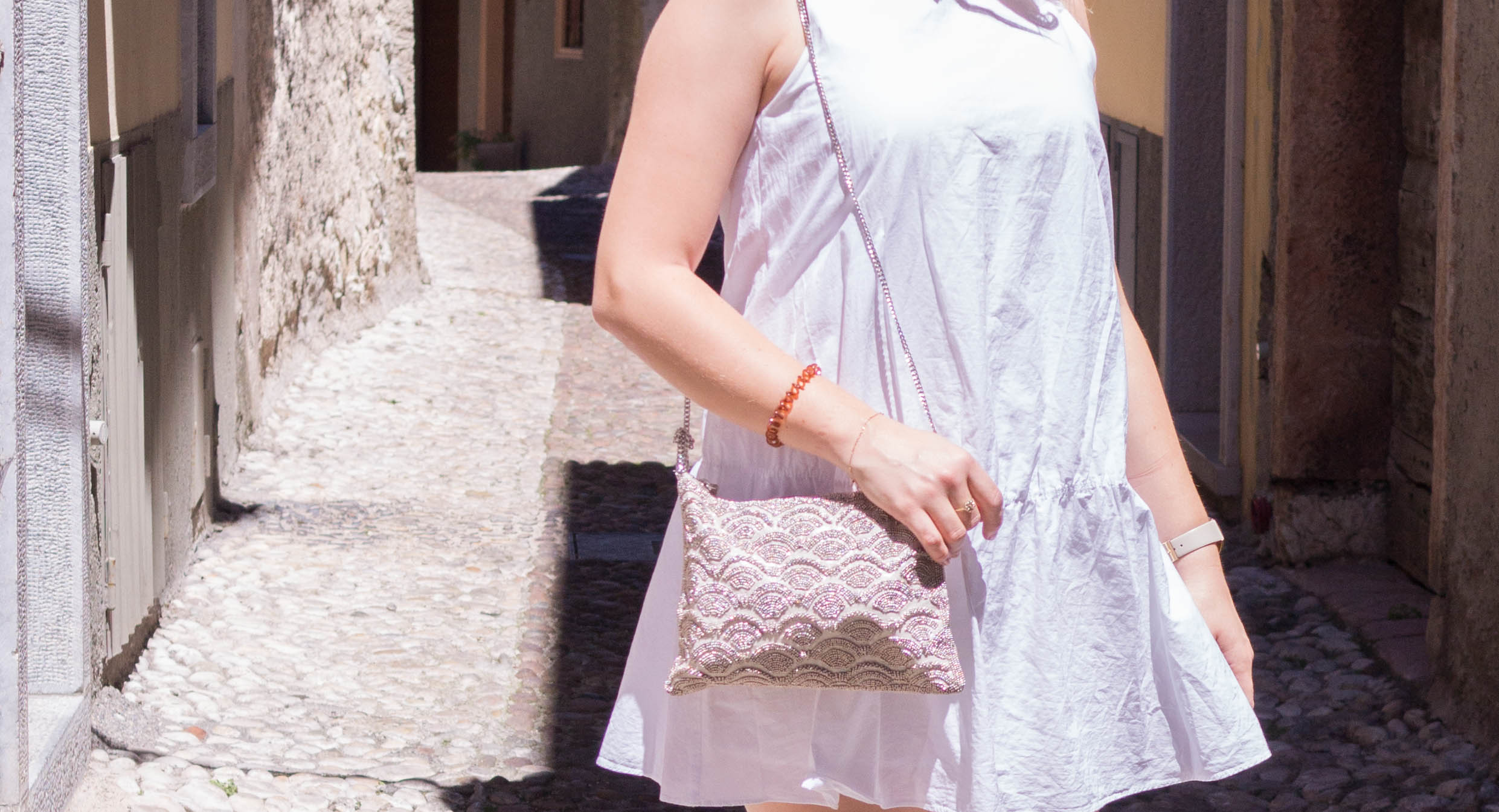 summer fashion white dress outfit style