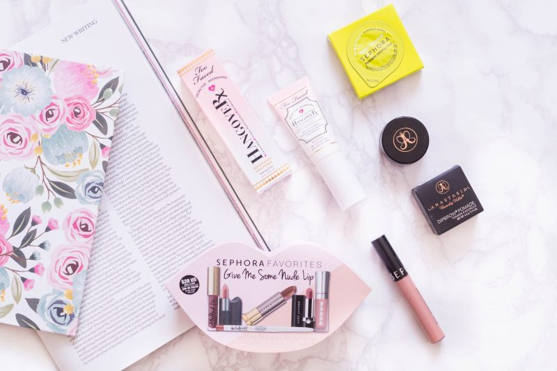 Sephora Haul and Review: Lipsticks, Too Faced Primer, Anastasia Dip Brow and Face Masks