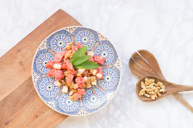 Recipe: Watermelon Feta Salad with Walnuts