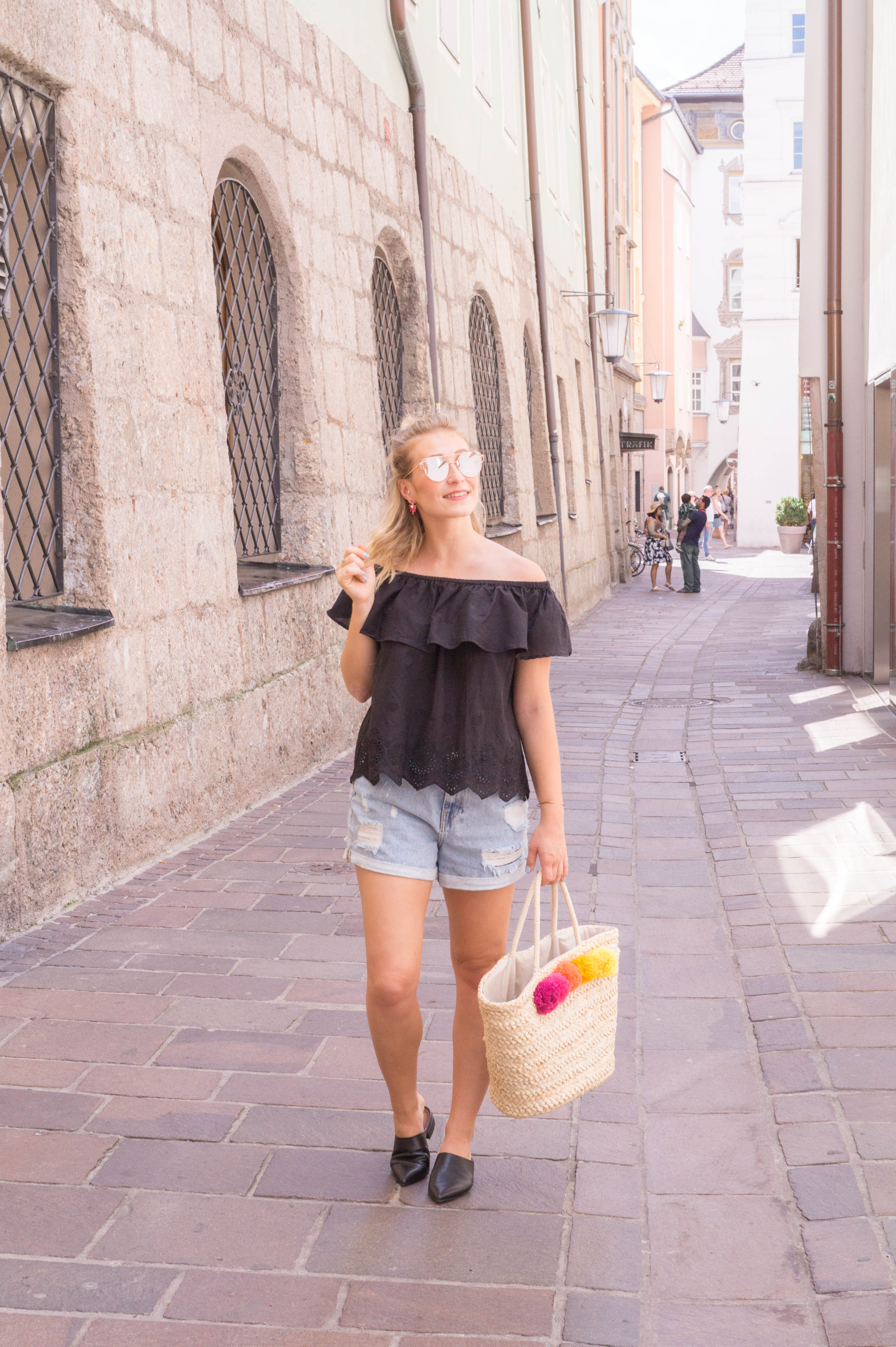 summer trend shoes mules denim outfit fashion blog blogger style