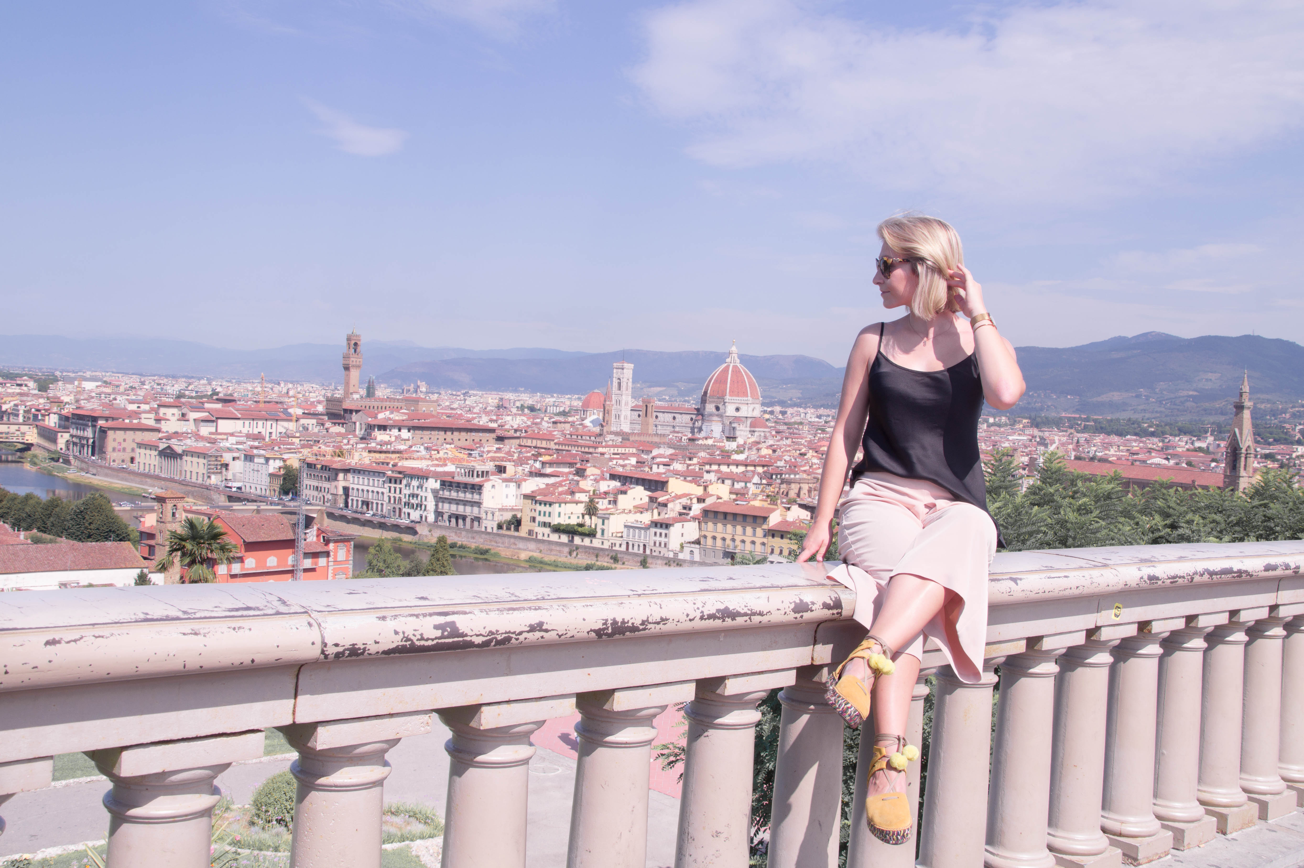 florence firenze italy travel outfit culottes espadrilles santa croce