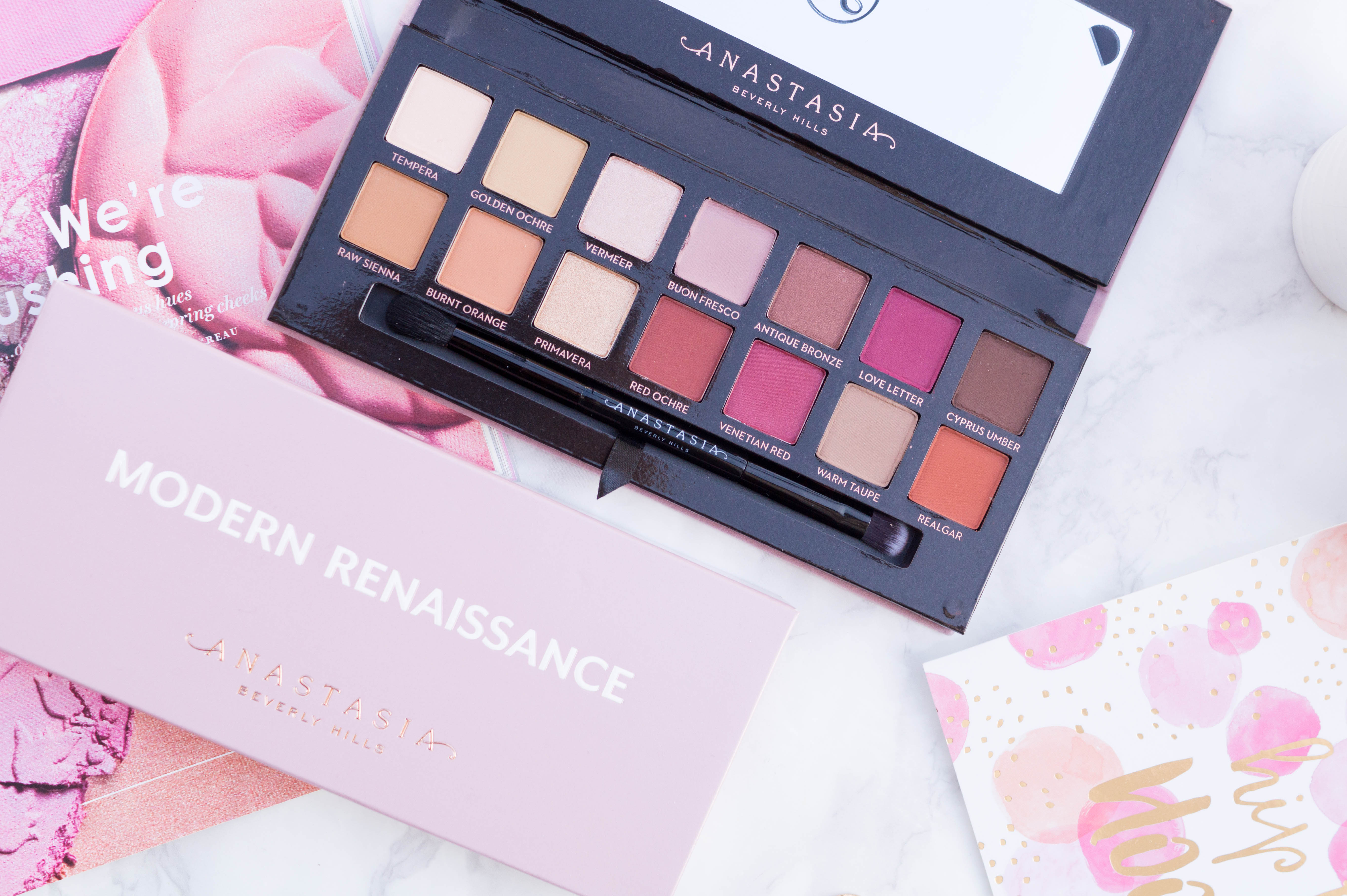 Anastasia Beverly Hills Modern Renaissance Palette Flatlay Review Swatches