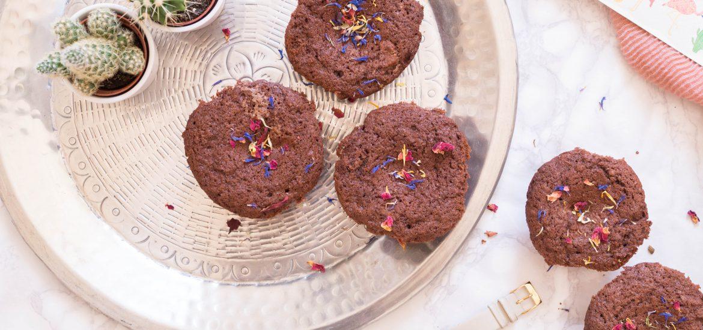 brownie muffins chocolate flatlay primetime chaos baking bake food blog