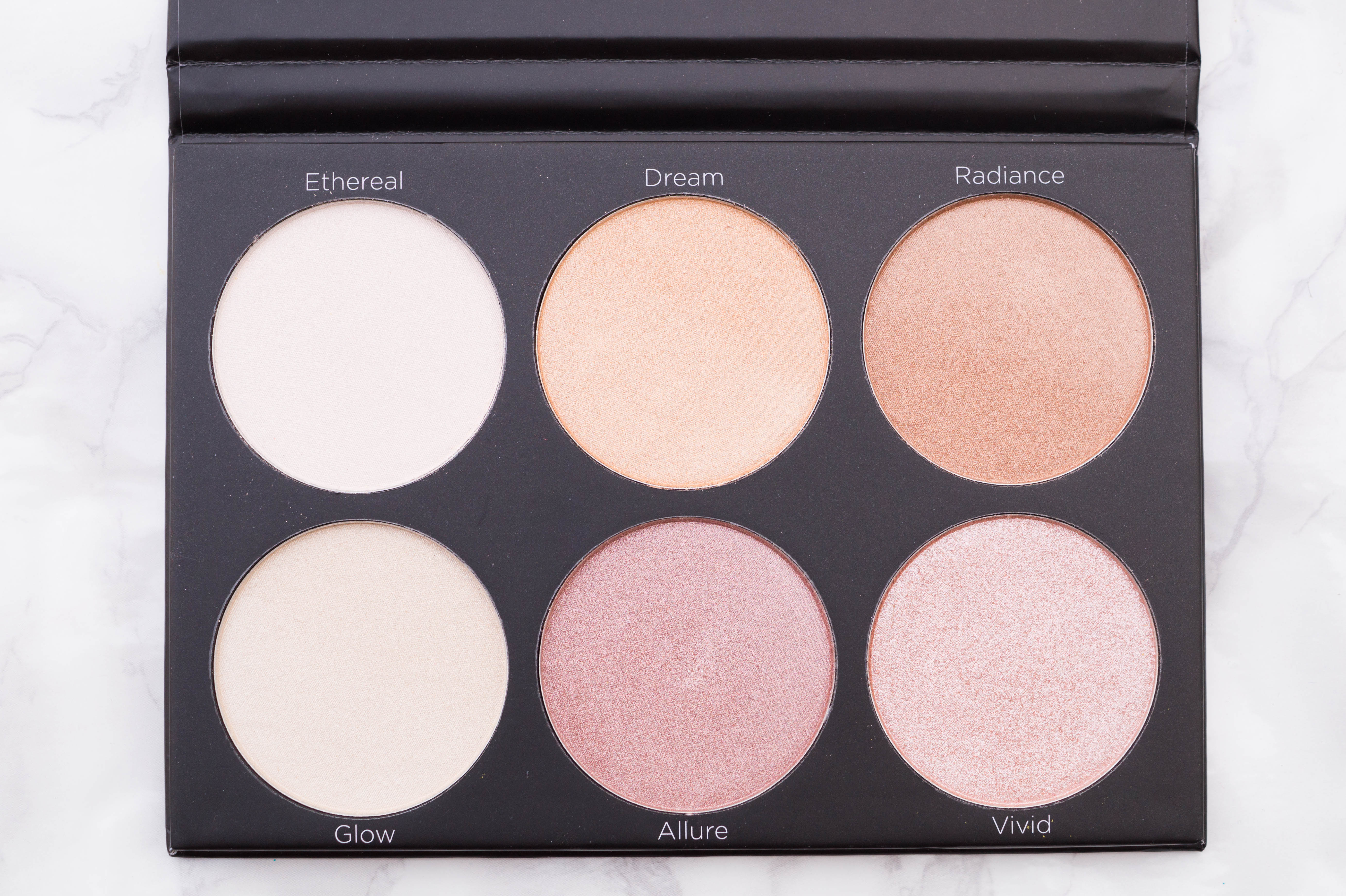 BH Cosmetics Highlight Palettes Spotlight Review Swatches Flatlay