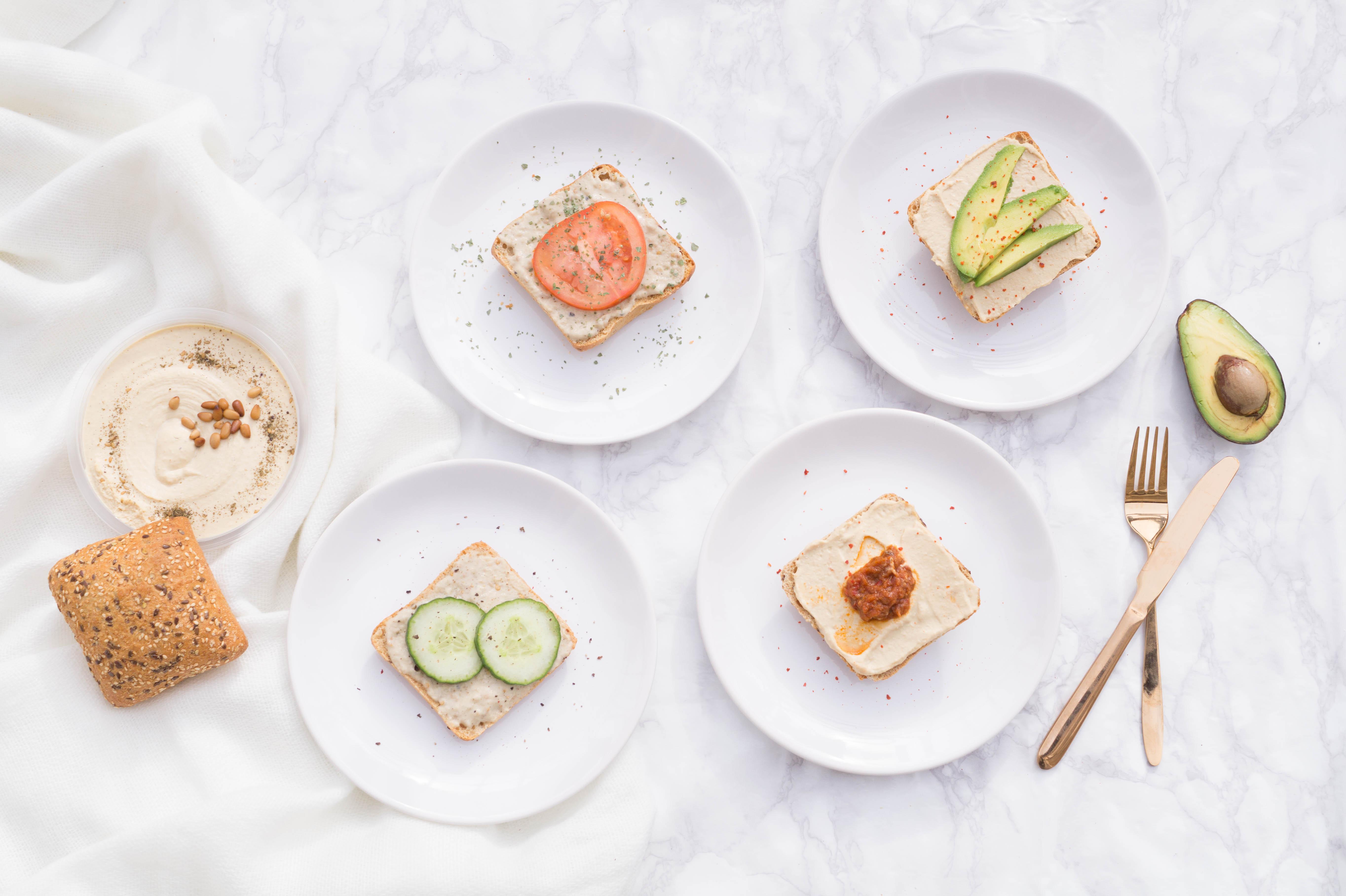 vegan food deli dip hummus guacamole sandwiches