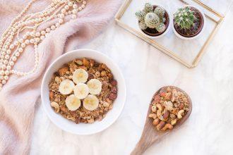 vegan nut granola recipe with coconut and oats quick simple recipe
