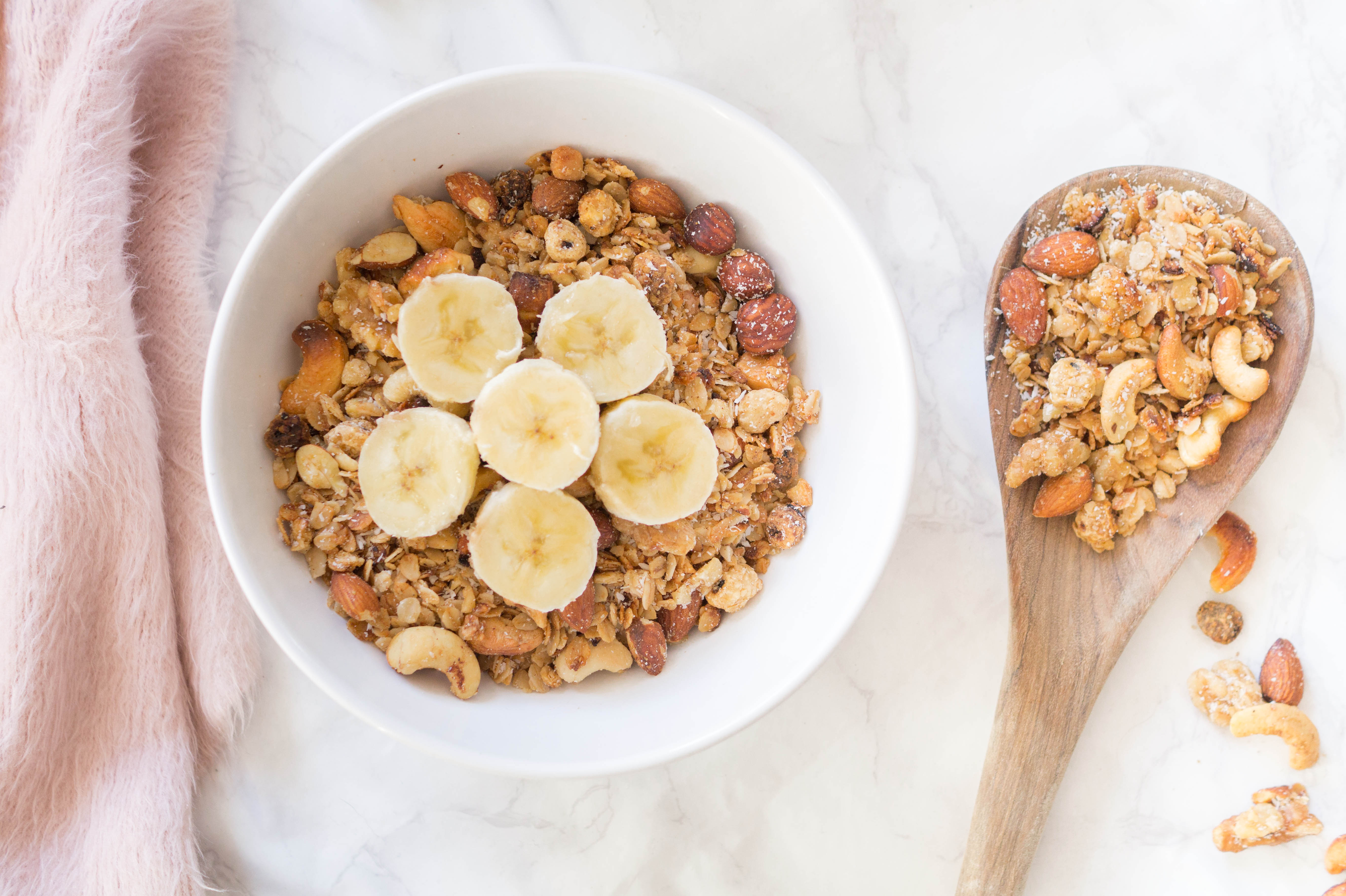 vegan nut granola recipe with coconut and oats quick simple recipe